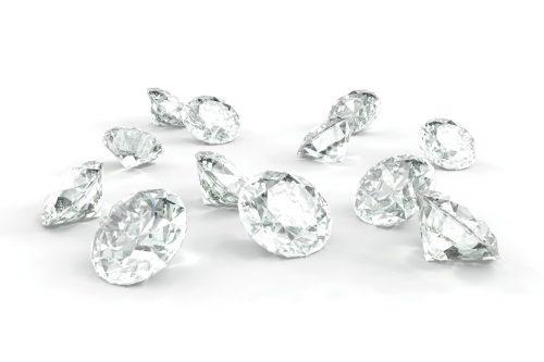 kleine Diamanten - Syntethische Industrie- und Schmuckdiamanten